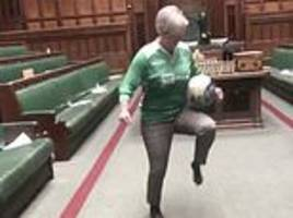 female mps rebuked by speaker after playing football in the chamber