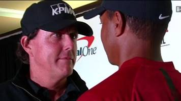 woods v mickelson - when golfers think they're boxers