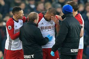 west brom striker cries as he recalls that everton incident in teary interview