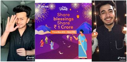 diwali dhamaka on tiktok: new record set with 5.3 million videos published in a day