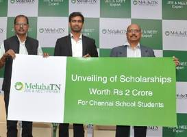 meluha makes its way to tamil nadu with solution to crack jee and neet and announces rs. 2.2 cr. scholarships to chennai school students