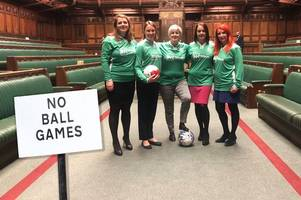 watch snp mp lead kickabout in house of commons chamber