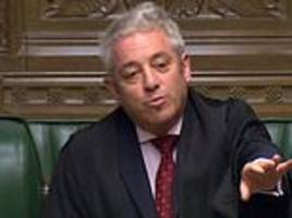 commons speaker john bercow gives andrea leadsom a stern ticking off