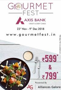 alliances galore and axis bank hosts the 4th edition of gourmet fest