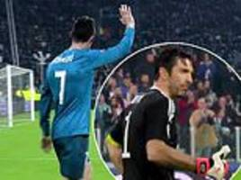 new footage shows gianluigi buffon's classy gesture to cristiano ronaldo after goal