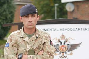 beeston solider who rescued victims of las vegas mass shooting gets bravery award