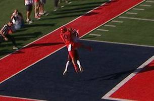 asu defender gets 'mossed' by shawn poindexter of arizona on 23-yard td