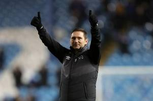 frank lampard gives his reaction to derby county's win at sheffield wednesday