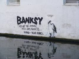banksy works worth £12m seized from 'unauthorised' exhibition in former belgian supermarket