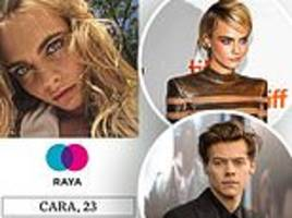 cara delevingne and harry styles sign up for raya dating app