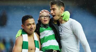 watch: 'and kieran tierney?' celtic fan jay beatty is a social media sensation again after a laugh with aberdeen mascot