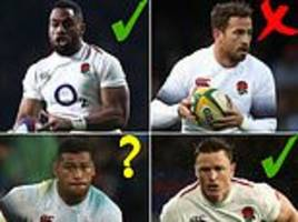 danny cipriani out... but will chris robshaw make it? how england world cup squad is shaping up