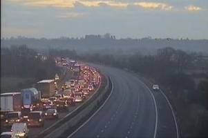 eight vehicles involved in serious m4 crash near swindon