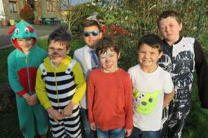 hardgate primary school pupils dress down for children in need