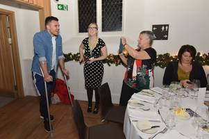 ellis jenkins just turned up at a charity event on crutches three days after his devastating injury