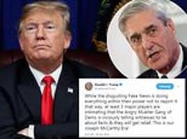 trump won't rule out pardoning paul manafort after claiming mueller is telling people to 'lie'