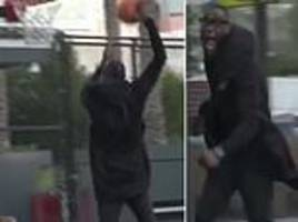 wilder revels in slam dunk as he shows off basketball skills ahead of huge tyson fury bout
