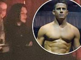 jessie j supports channing tatum from plush private box at magic mike live