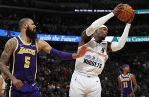 nuggets roll to biggest win over lakers with 117-85 romp