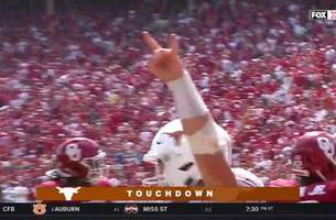 red river flashback: ehlinger rushes for 2nd touchdown, texas up 31-17