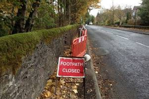 dunblane wall woes rumble on over council concerns about safety and costs