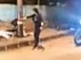 horrifying moment female assassin executes five young men in mexico