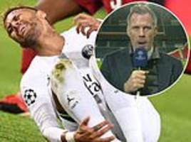 jamie carragher slams psg stars for diving in victory over liverpool