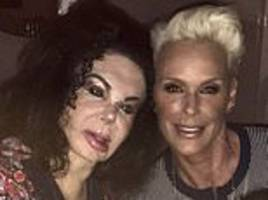 brigitte nielsen, 55, spends time with her ex-husband sylvester stallone's mother