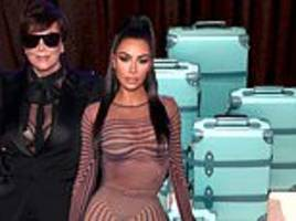 kris jenner 'squeals' about tiffany luggage daughter kim kardashian bought her before christmas