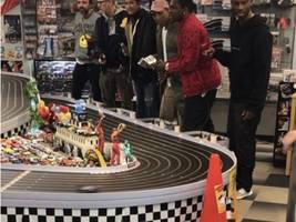 pusha-t smokes pharrell in toy car racing in epic fashion