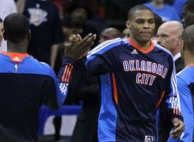 westbrook triple-double fuels thunder, harden fires but rockets fall