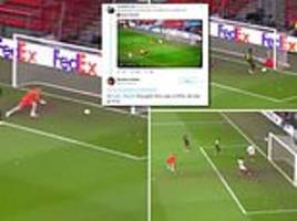 fans go wild as defensive mix-up leads to 15 seconds of crazy action in standard liege v sevilla