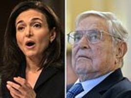 facebook admits coo sheryl sandberg requested info on billionaire george soros