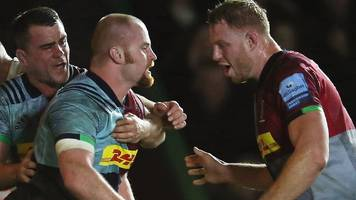premiership: harlequins beat exeter chiefs 28-26 to end leaders' unbeaten start