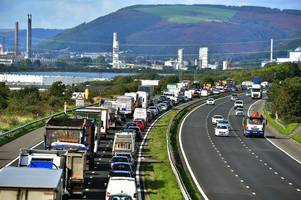 the closure of junction 41 of the m4 in port talbot looks to be off
