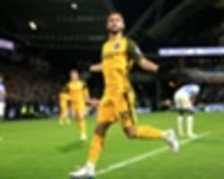 huddersfield town 1 brighton and hove albion 2: andone punishes 10-man terriers