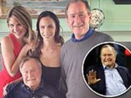 george h.w. bush peacefully passed away aged 94 surrounded by family in houston