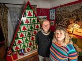 Lego-obsessed family spend 235 HOURS building an eight-foot-tall Christmas advent calendar