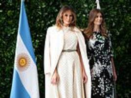 melania trump and argentina's first lady juliana awada lead the g20 wives at art museum