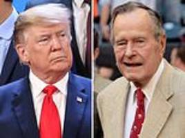 trump praises george h.w. bush's 'essential authenticity' in tribute to the late president