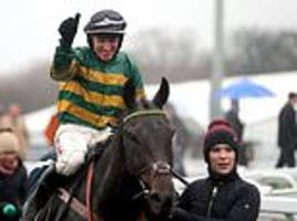 nicky henderson's buveur d'air demolishes his rivals to win the fighting fifth hurdle at newcastle
