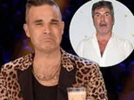 robbie williams demands a pay rise from simon cowell