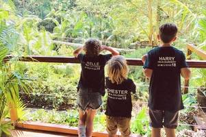 Holly Willoughby's kids visit the I'm A Celebrity jungle in adorable personalised t-shirts
