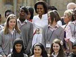 michelle obama to return to north london girls' school that made her 'quake'