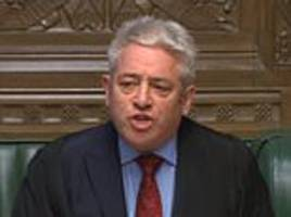speaker john bercow 'should be stripped of powers to run commons'