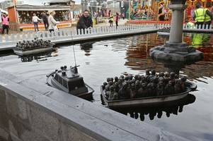 banksy puts dismaland refugee model boat up for raffle to raise money for charity