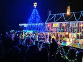 neighbours pull together to transform their homes into winter wonderlands