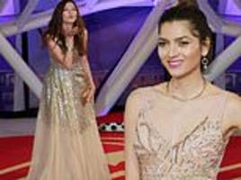 blanca blanco looks dipped in gold as she attends the 17th marrakech international festival