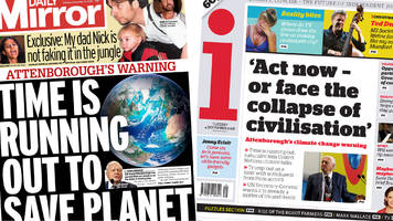 newspaper headlines: sir david attenborough and chris grayling on front pages
