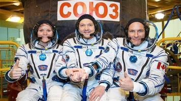 first crewed soyuz rocket goes to space after aborted mission